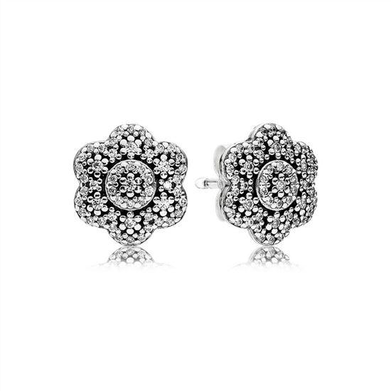 dec4b11e2 Pandora Crystallised Floral Stud Earrings 290732CZ, Pandora Earrings, Authentic  Pandora Earrings
