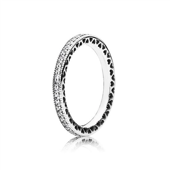 b6864b8de Pandora Hearts of PANDORA Ring, Clear CZ 190963CZ, Pandora Jewelry, Pandora  Earrings Sale