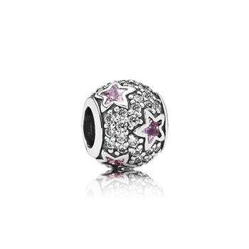 Pandora Follow The Stars, Pink & Clear CZ 791382PCZ