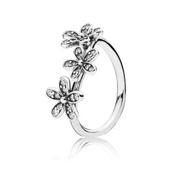 Pandora Dazzling Daisies Stackable Ring, Clear CZ 190933CZ