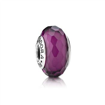 Pandora Purple Faceted Murano Charm 791071
